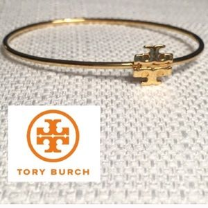 🎉🆕🎉 AUTH. TORY BURCH GOLD LOGO BANGLE BRACELET